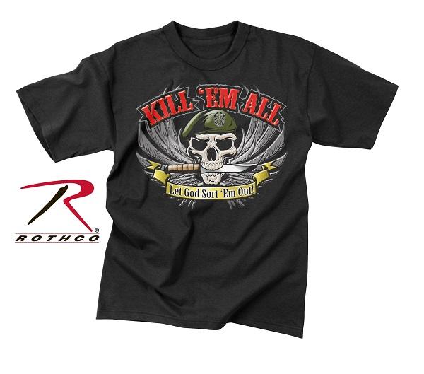 ROTHCO ロスコ グラフィックプリント Tシャツ キル・ゼム・オール USA アメリカ直輸入
