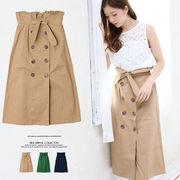 【2018春夏新作】ツイルトレンチ風スカート