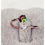 新作★同梱でお買得★何でも合う指輪★復古ルコニア石★可愛い★リング★心地よい