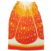 《プール・海》フルーツドレス 80cm丈巻き巻きタオル/オレンジ
