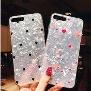 可愛い背面カバー ハート柄iPhone7ケース シェル背面ケース
