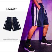 メンズ半ズボン 新作 涼しい バスケショーツ ファッション ストライプ スポーツ ジュニア 短パン