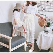 チュチュスカート チュールスカート  レディース  ミディ丈 春夏 女の子 親子服 ママと娘お揃い