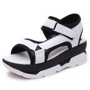 サンダル 女子学生 新しいデザイン 夏 女性の靴 韓国風 原宿スタイル フラット 何でも