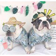 犬服 夏 シャツ ビーチ おしゃれ 可愛い ペットウエア ペット服 ハワイ風