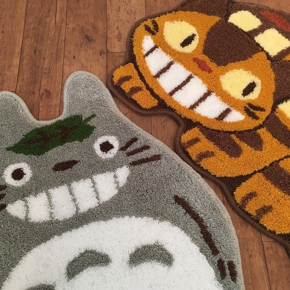 トトロとネコバスのアクセントマット 『ゆっくり』・『ていしゃ』