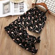 夏 新しいデザイン パンツ セット 女児 スリング シャツ + ブルマー セット 赤ちゃ
