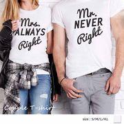 カップルtシャツ ペアルック カジュアル デート ペアお揃い シャツ ロゴ 半袖 tシャツ 即納