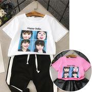 小中児童 春夏服装 女 赤ちゃん 新しいデザイン 韓国風 ファッション 児童 シャツ 女