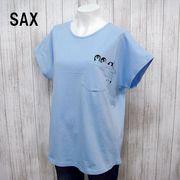 【アウトレット価格】ペンギン柄プリント フレンチスリーブTシャツ