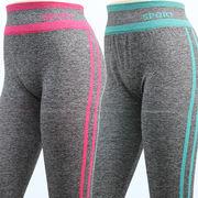 レディース パンツ サイド2本ライン 9分丈 フィットネス パンツ 10本セット(5色)
