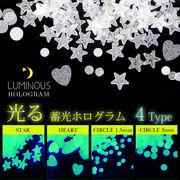 夏ネイル 【蓄光ホログラム 4種】 夜光フィルム グローネイル レジン ハンドメイド