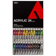 ホルベイン アクリル絵具 アクリリックカラー 24色セット AU995 20ml(6号)