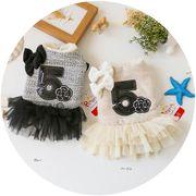 レースドレスかわいい犬服小中型ペット アパレル 犬服 秋冬