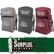 【2018SS新作】『SURPLUS』ポリオックス 刺繍入り 縦型サコッシュ