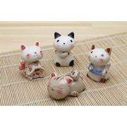「陶製の置物」 猫 置物【NO.2】