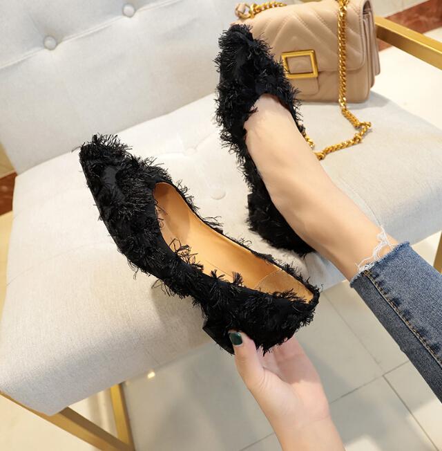 ★秋冬新作★ファッションレディース 靴 プンプス シューズ フワフワ かわいい 上品 オシャレ