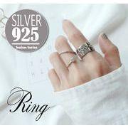 sflhw2039◆5000以上【送料無料】◆シルバー925リング◆指輪 シンプル ラインストーン チェーン柄