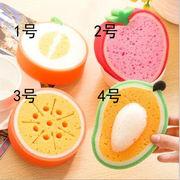 スポンジ キッチンスポンジ 台所用スポンジ 泡立つスポンジ 果物柄スポンジ 食器洗い 掃除用品
