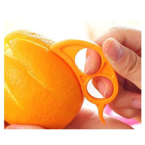 オレンジピーラー 皮むき器 簡単皮抜き オレンジカッター 柑橘類カッター マウス型 可愛い