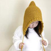 【子供用】ニット帽 ハット 子供 キッズ 耳を守る 秋冬 帽子 ファション 5色