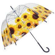 [59cm]可愛いビニール傘 ドーム型 手開き式 向日葵柄 秋冬新作