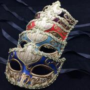 ハロウィーン 万聖節 工芸マスク 仮面 マスク 5色 ハロウィン道具