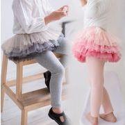 キッズパンツ 女の子 キュロット スカート付きパンツ 秋冬 90-130 ズボン