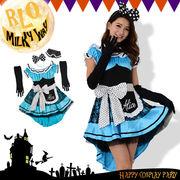 Let'sハロウィンパーティ!!4点セットミニワンピアリス ハロウィン コスプレ 童話 仮装 メイド