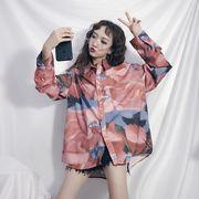 秋冬新商品730022 大きいサイズ 韓国 レディース ファッション ワンピース シャツ ジャケット