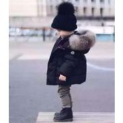 【ニュースタイル !!】子供服★コート★厚手★暖かい★ダウンジャケット★韓国風★帽子付き★80-120cm
