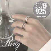 sflhw2123◆5000以上【送料無料】◆シルバー925リング◆開口指輪 アンティーク風 シンプルリング