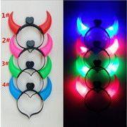 ハロウィン 装飾をする 発光する 牛角の箍 コンサート用品 カチューシャ クリスマス 頭の飾り