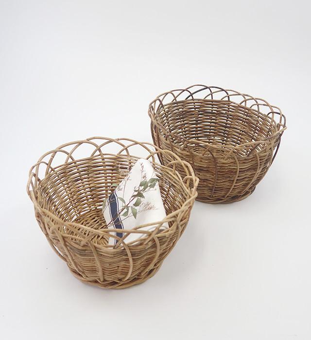 【BASKET】アラログラウンドバスケット [*ナチュラル雑貨・アンティーク雑貨*]