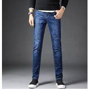 秋冬新作メンズジーンズ パンツ大きいサイズ おしゃれ 通勤通学♪ブラック/ダークブルー2色