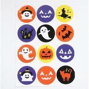 ハロウィンシール ドクロのかぼちゃ スクラップシール キャンディバッグ 装飾