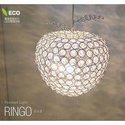 クリスタルペンダントライト 間接照明 ガラス 1灯 リンゴ CPL-1636