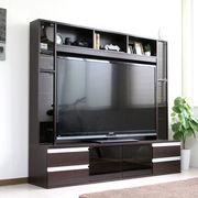 ゲート型TV台 180cm幅 壁面家具 60インチ対応 AVボード  ダークブラウン FS-14180DBR