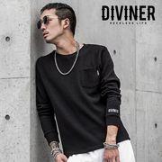2018秋冬新作★【DIVINER】ディバイナー ワッフルレギュラー丈長袖Tシャツ