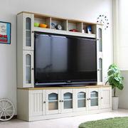 カントリー 壁面家具 リビング収納 60インチ対応 TV台 ゲート型AVボード 180cm幅 FS-16180CTY