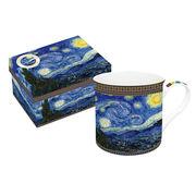 <AMANO>【名画ロイヤルマグカップ】ギフトBOX入りマグゴッホ 星が輝く夜