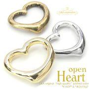 "★L&A original charm★かわいいオープンハート★K16GP&本ロジウム&金古美""open heart"""