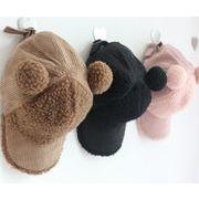 ★秋冬 帽子 暖かい帽子 キッズ用帽子 キャップ