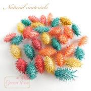 ひっつき虫♪植物素材♪30個♪全4色★オナモミ風/花材/パーツ/材料/ドライフラワー/F38