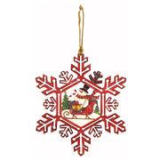 <AMANO>【クリスマス】【木製オブジェ】スノーフレークウォールデコ・スノーマン