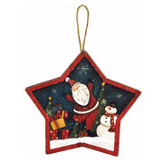 <AMANO>【クリスマス】【木製オブジェ】星型ウォールデコ・サンタ
