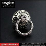 good vibrations シルバー925 ドロップハンドル ココペリ 民族模様 イーグル ウォレットチェーン金具