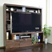 ◎55インチ対応 テレビ台 ハイタイプ 壁面家具 リビング壁面収納 TV台 ブラウン COLMAR165-BR