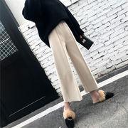 【韓国人気商品!!★超目玉★】全2色 パンツ 体型カバー 無地 シンプル カジュアル