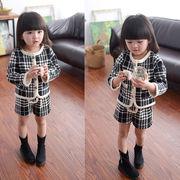 【短納期】子供服 コート+短ズボン 女の子 可愛い 長袖 2点セット スポーツウェア キッズ